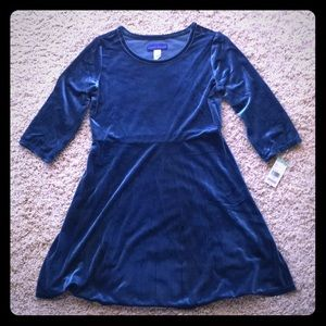 NWT Girls velvet dress